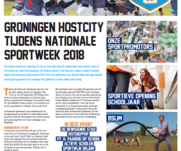 De enige echte Nationale Sportweek krant uit hostcity Groningen